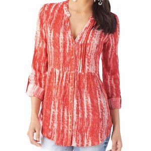 Maeve/Anthro Baby Doll Button Front Orange Top 8P